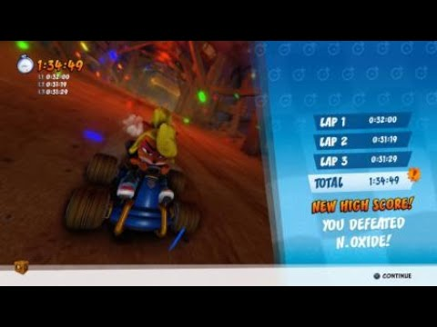 Beating Oxide's Time Trial DRAGON MINES - Photo Finish! CTR Nitro Fueled