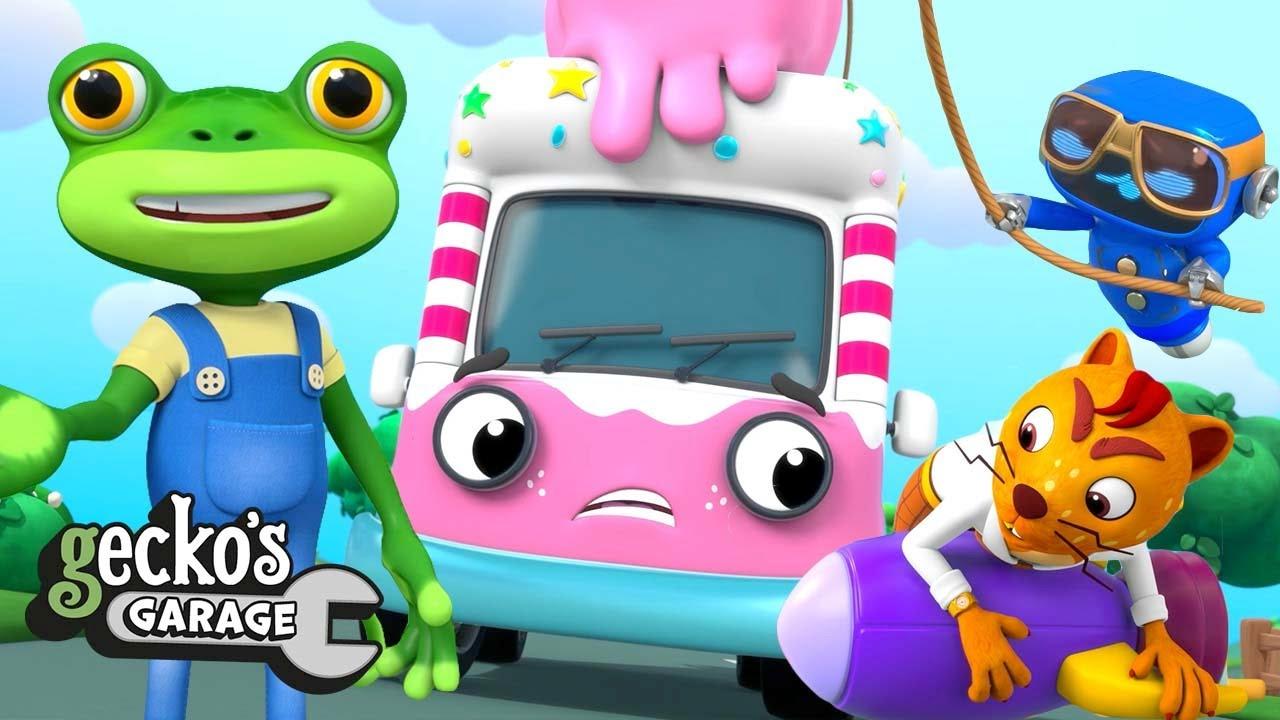 Rocket-Powered Ice Cream Truck | Gecko's Garage | Trucks For Children | Cartoons For Kids