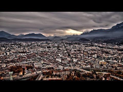 Grenoble France // November 2017 ... Ein Tag in Grenoble, Frankreich