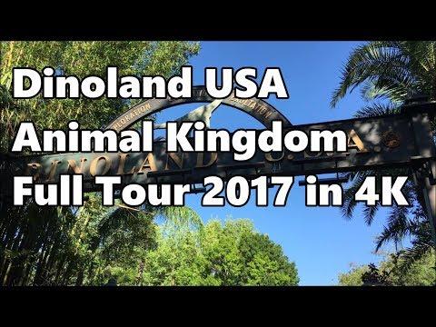 Dinoland USA | Full Tour in 4K | Disney's Animal Kingdom | 2017