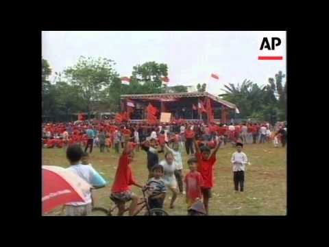 INDONESIA: RIVAL POLITICAL PARTIES CLASH AT RALLY