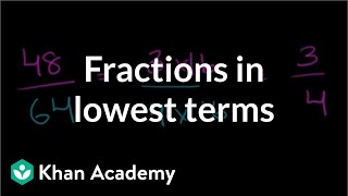 Fractions in lowest terms | Fractions | Pre-Algebra | Khan Academy