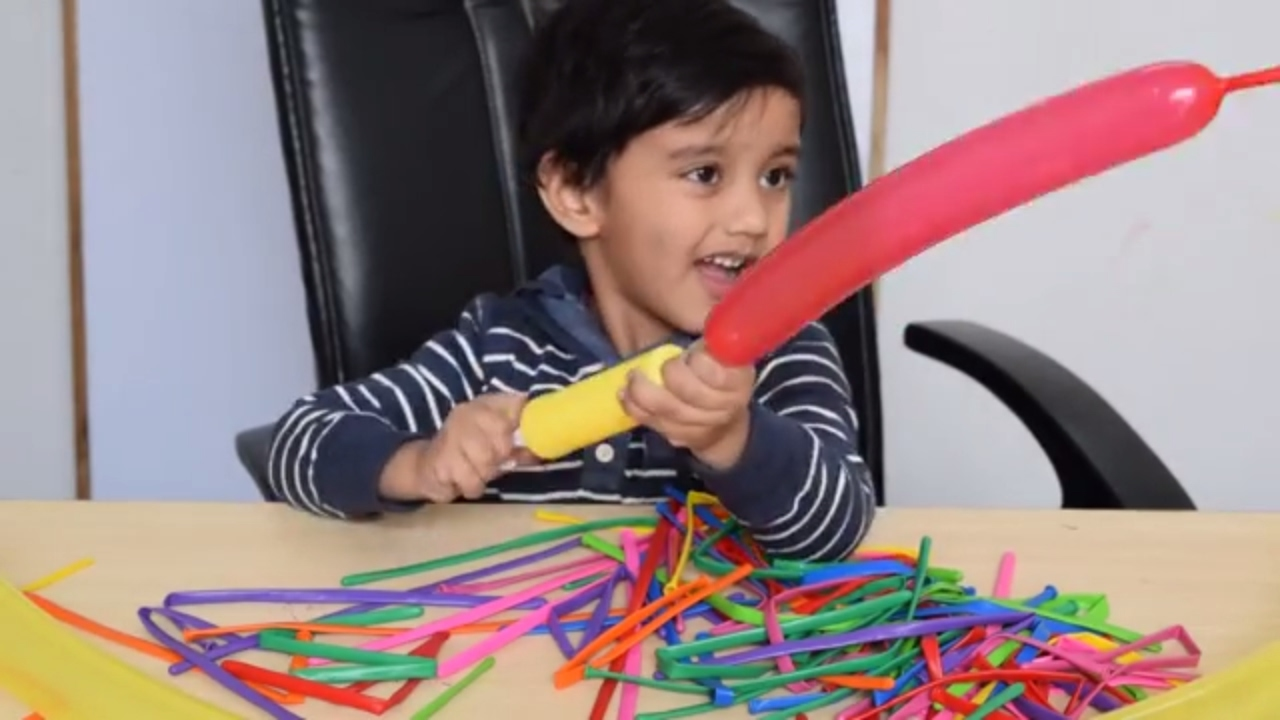 Long And Narrow Colorful Balloons | Learn Color Name Playing Child Most Attractive Activities