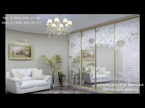 Какие бывают шкафы-купе - дизайн фасадов для спальни и гостиной (фото, видео)