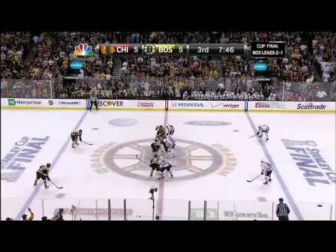 Johnny Boychuk Johnny Rocket slapshot goal 5-5. 6/19/13 Chicago Blackhawks vs Boston Bruins NHL