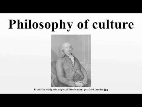Philosophy of culture