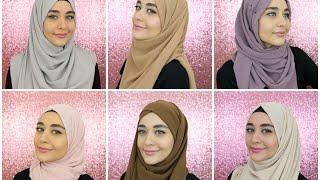 6 Chiffon Square Hijab Tutorials Feat. Hijab Samshine | Muslim Queens By Mona