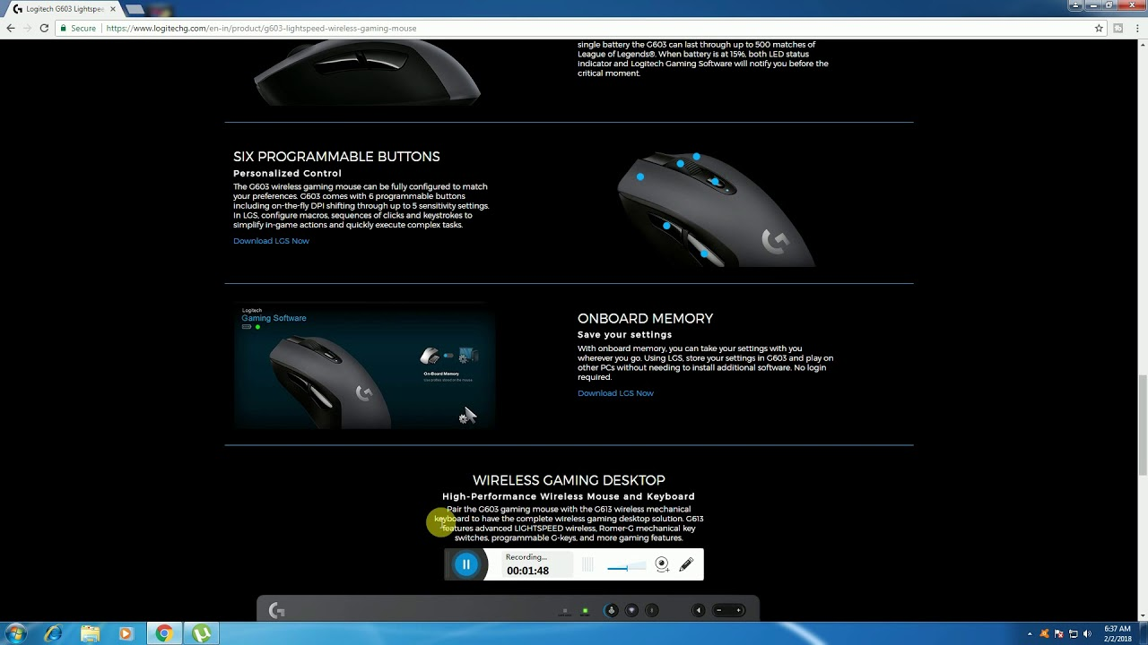 logitech g 603 light speed wireless gaming mouse review