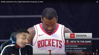 FlightReacts SPURS at ROCKETS | FULL GAME HIGHLIGHTS | December 15, 2020!