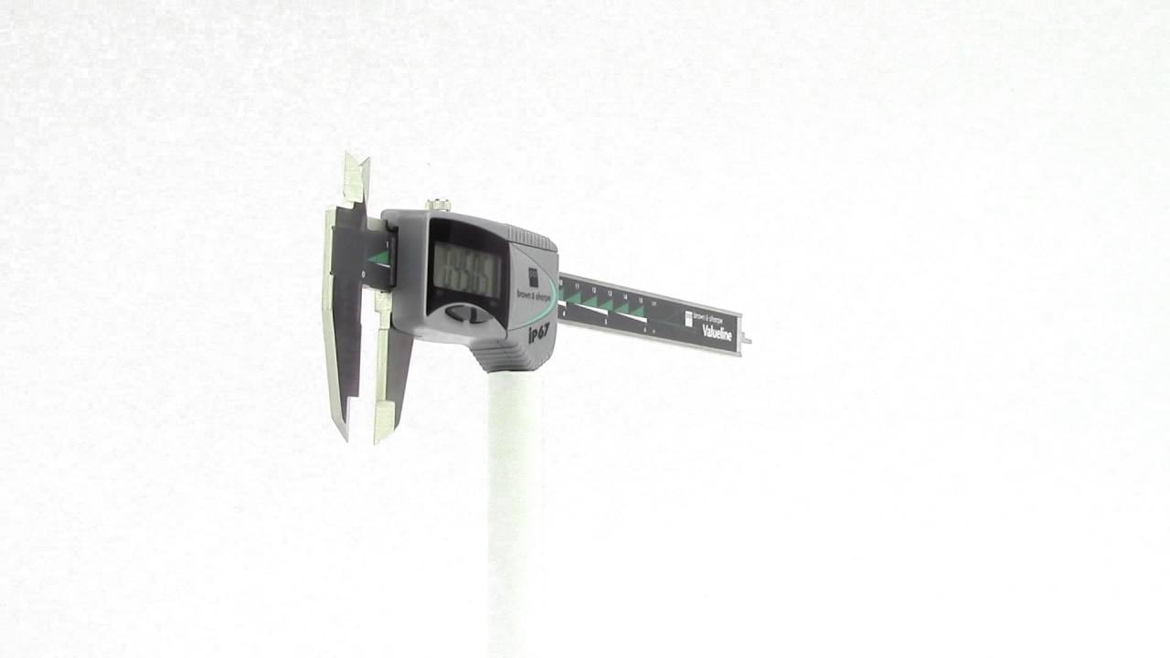 "Tesa Brown /& Sharpe 00599391 6/"" IP67 Valueline Absolute Digital Caliper-Rnd Rod"