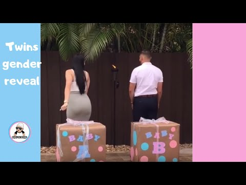 TWINS BABY GENDER REVEAL COMPILATION / CUTE ANNOUNCEMENT IDE