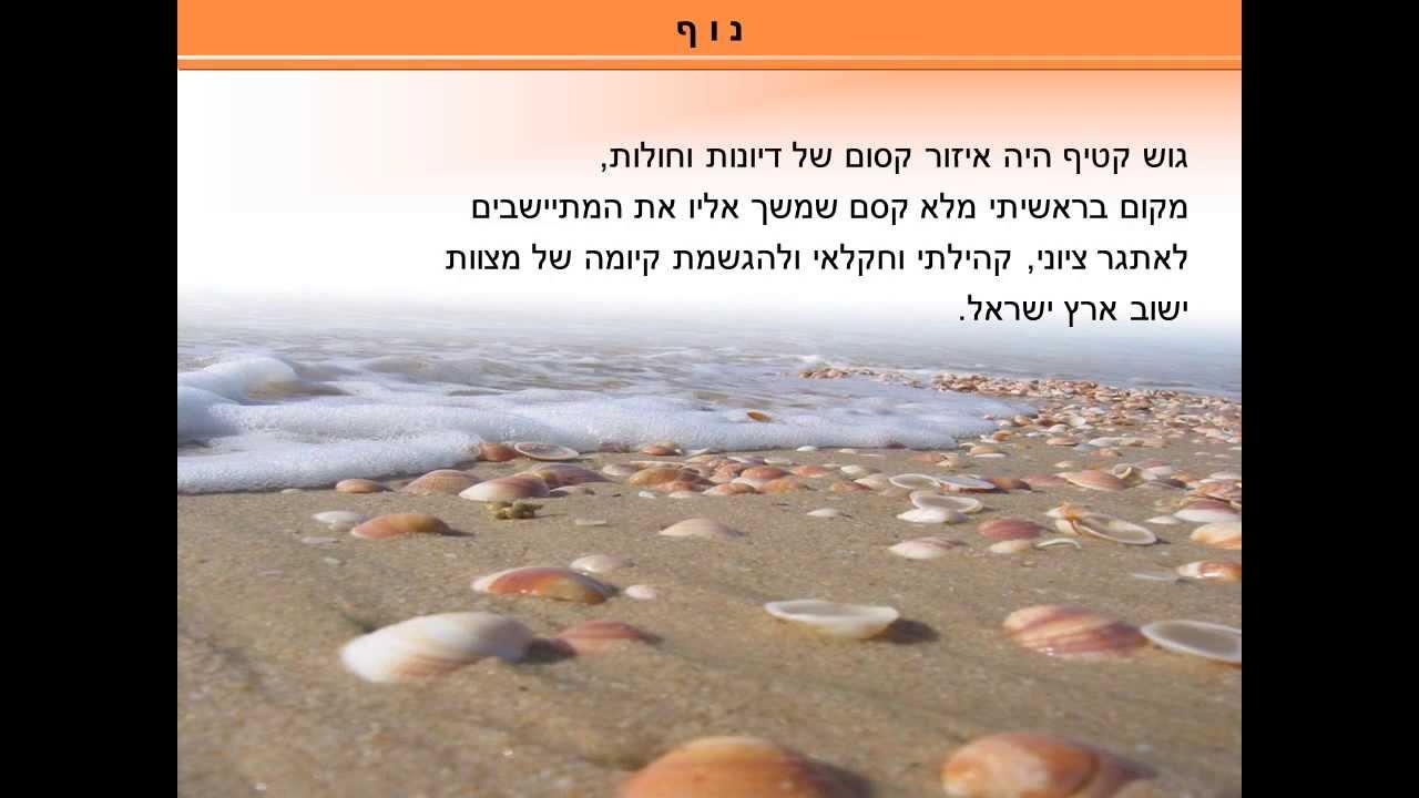 מצגת גוש קטיף פרק  בסיפור ישראלי
