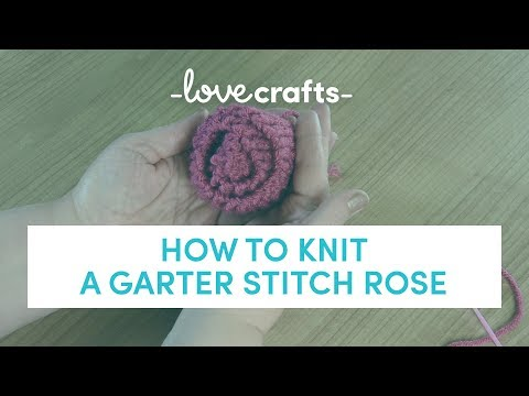 How to Knit - A Rose   LoveKnitting