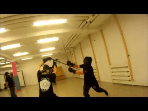 Fechtschule fencing, POV camera