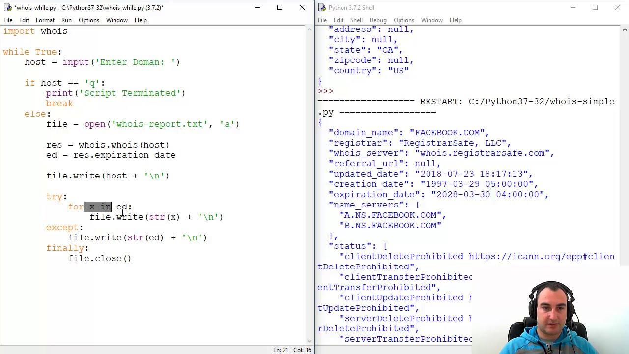Domain WHOIS Bulk Lookup Tool - Python Script