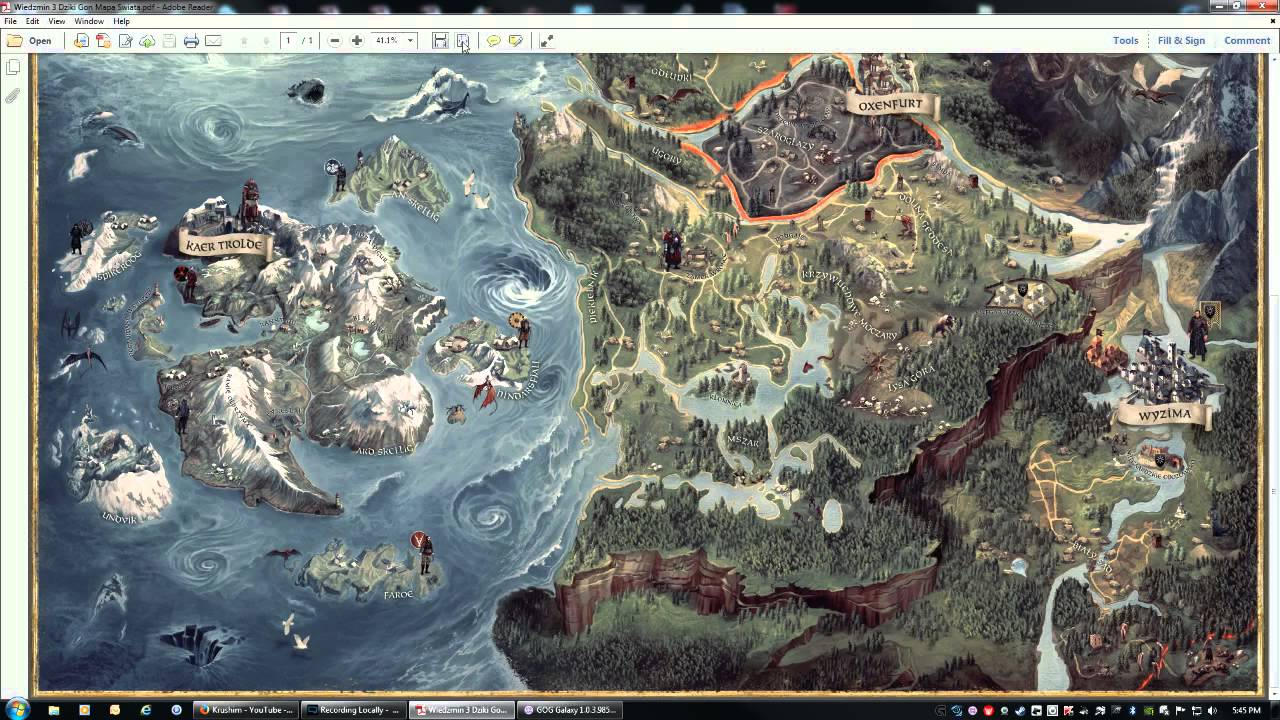 Witcher 3 Hidden Special Map in Bonus Polish DLC - YouTube