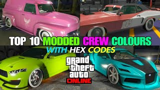 Gta 5 modded crew colors