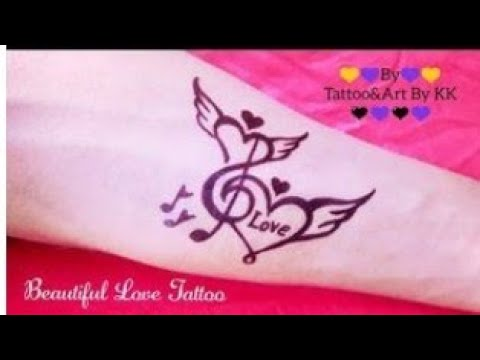 How To Make A Beautiful Love Tattoo Youtube Visit ink positive tattooss, new delhi, india. how to make a beautiful love tattoo