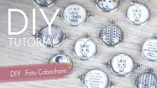Foto Cabochons designen - DIY Anleitung