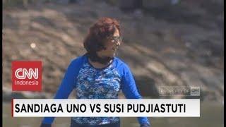 FULL Duel Adu Cepat Sandiaga Uno vs Susi Pudjiastuti di Festival Danau Sunter