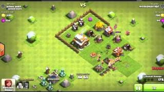 Clash of clans attack strategy Town Hall 3 11 Archer Attacks Level 1 ! Game play (AWESOME)