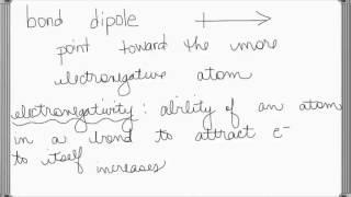 bond dipoles