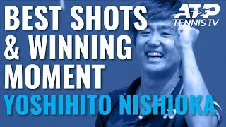 super-yoshihito-nishioka-shots-and-winning-moment-v-nishikori-cincinnati-2019-day-3