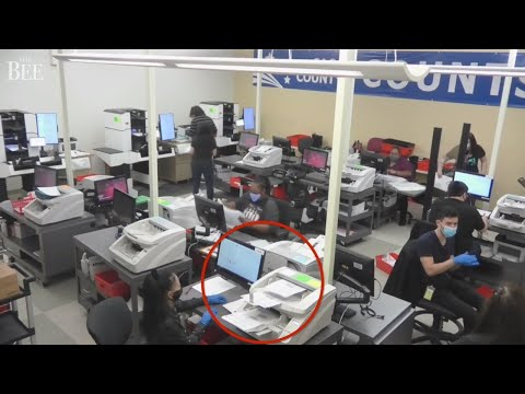 Where it's happening now: Live clip of workers counting ballots in Sacramento County