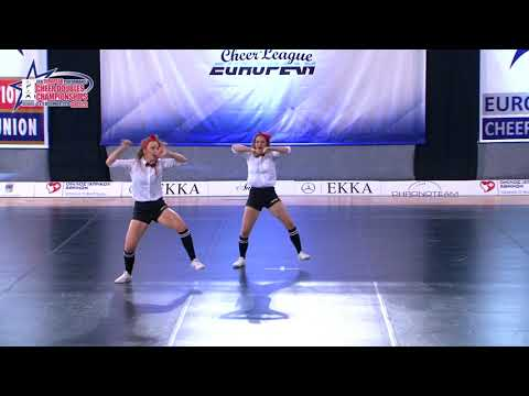 21 SENIOR DOUBLE CHEER HIP HOP Brandes   Koch HORNETS LADIES GERMANY