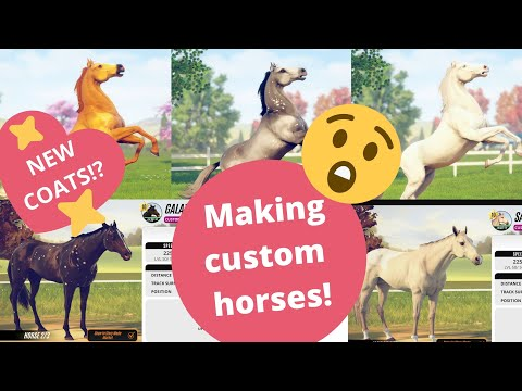 Creating PRETTY horses in creation mode and there's new coat patterns!? RIVAL STARS HORSE RACING