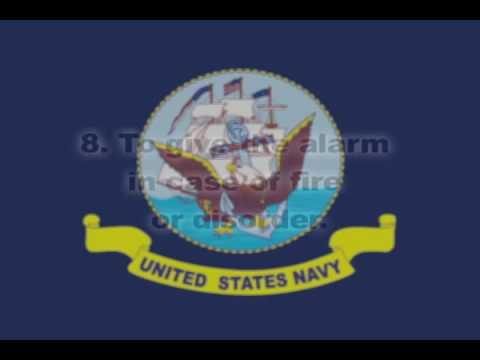 11 General Orders of a Sentry Navy version wMP3