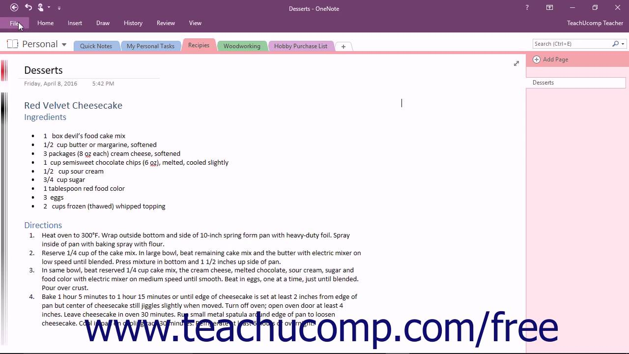 OneNote 2016 Tutorial Previewing and Printing Microsoft Training
