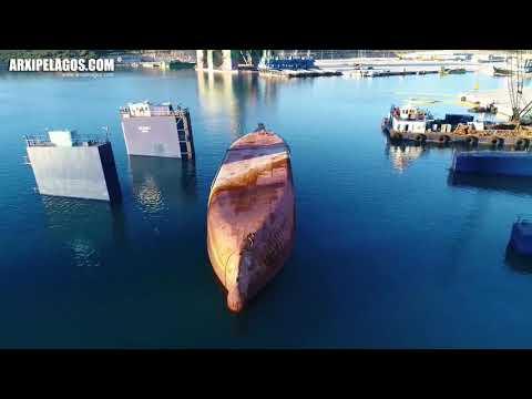 """Removal of M/V """"GERASIMOS"""" wreck, Platigiali port, Xiromero Aitoloakarnanias Greece"""