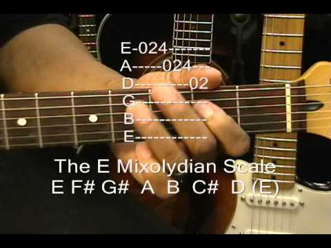 EZ Theory How To Play The E Mixolydian Scale On Guitar Lesson Midnight Memories