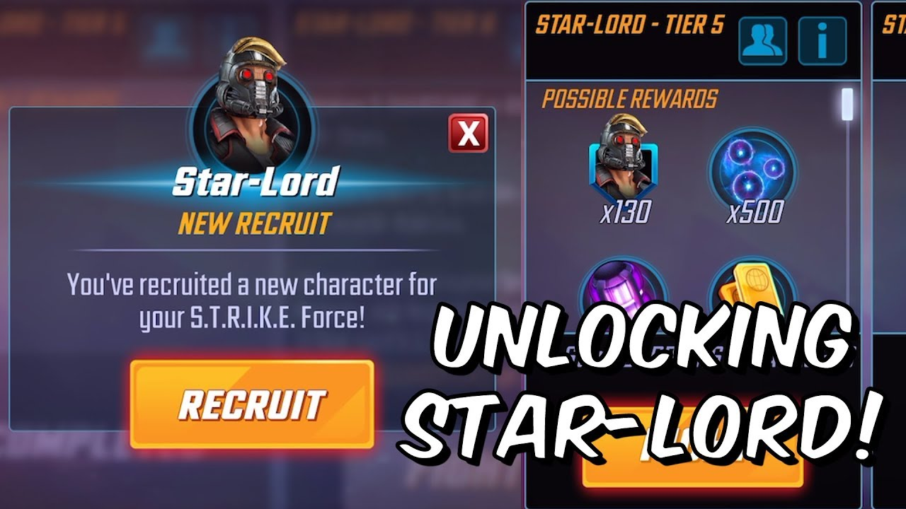 Unlocking Star-Lord! - Level Up & Full Guardians Of The Galaxy Gameplay -  Marvel Strike Force
