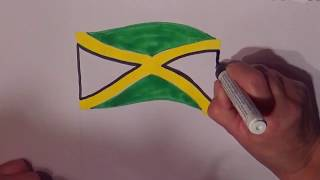 Learn geography for kids How to draw a flag Jamaica