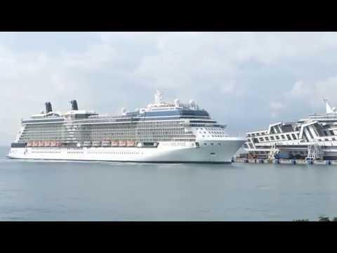 Celebrity Solstice Arrival in Singapore After Drydock