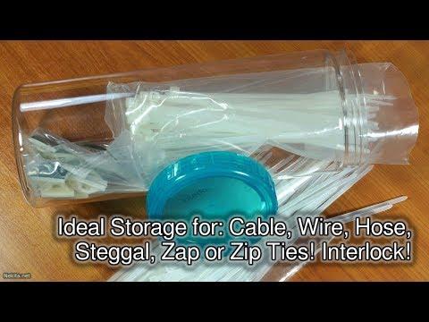 Ideal Tie Wrap storage! Interlock!