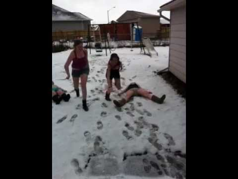Laying in snow challenge -by Queens of...