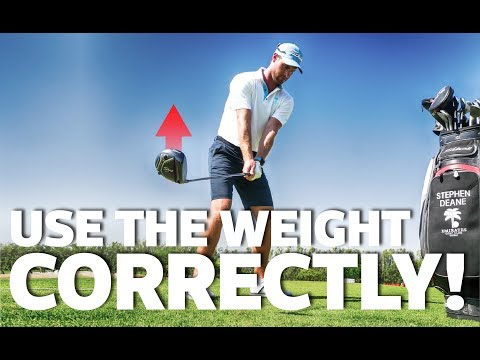 Use the driver weight correctly to improve your swing