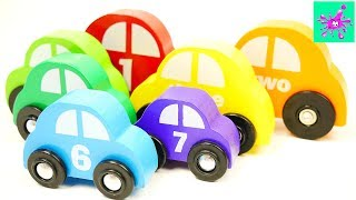 Learn To Count | Counting Wooden Cars | Counting For Kids