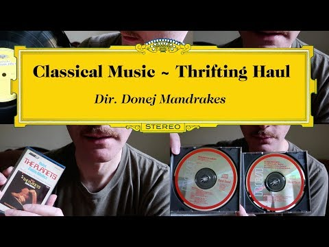 Classical Music Thrifting #Haul ~ Tapes Records Cds ASMR etc.