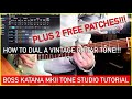 BOSS TONE STUDIO TUTORIAL | GET A VINTAGE GTR TONE!!! PLUS FREE PATCHES!!!