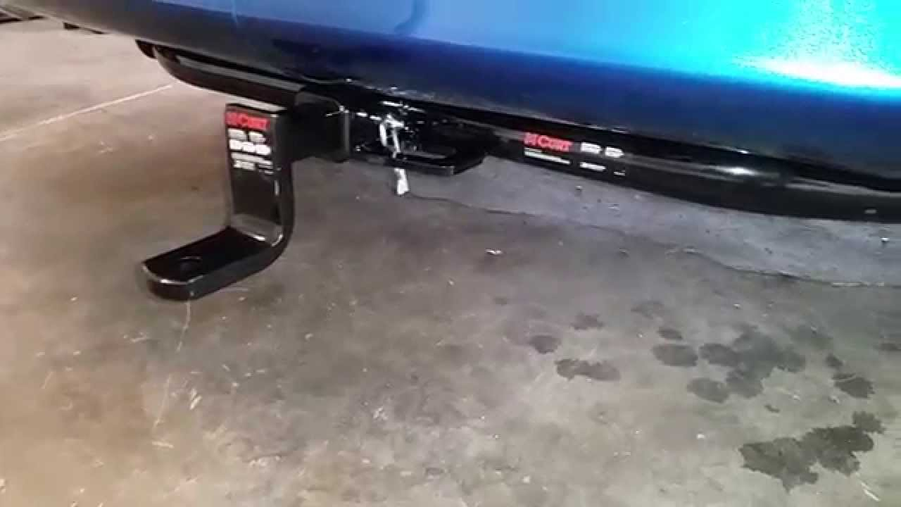 2010 Toyota Corolla S Curt Trailer Hitch Installed