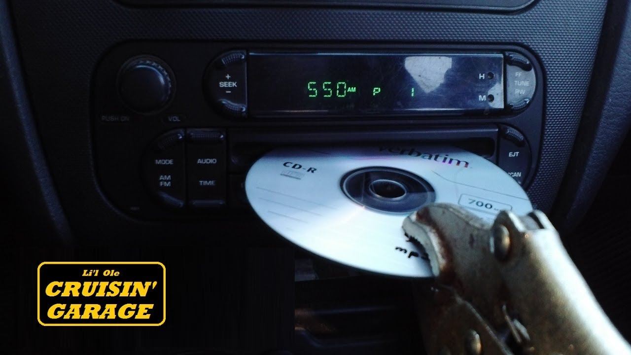 Cd stuck in car cd player