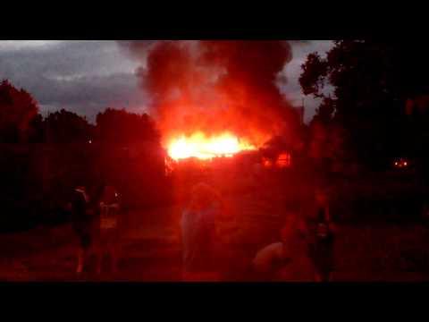 Пожар на ул. Карбышева, Уссурийск, 24.08.2013