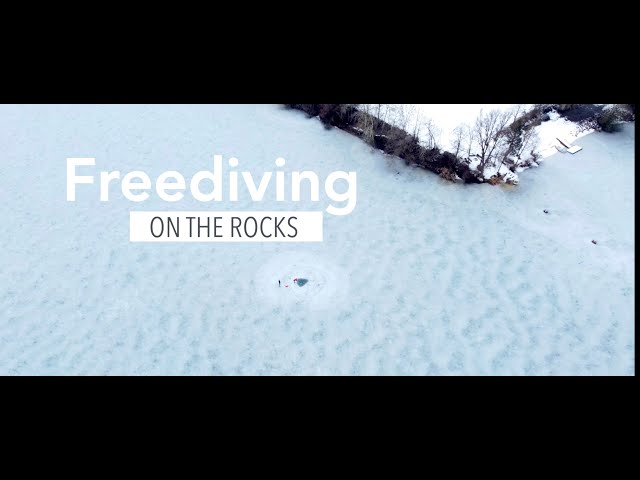 Freediving On The Rocks. No air under ice might be dangerous
