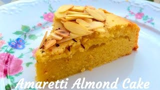 How To Bake Amaretti Almond Cake -  Recipe By Heart & Food