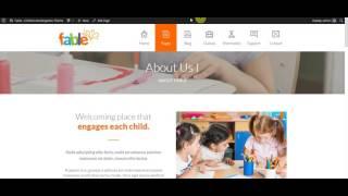 Fable - Children Kindergarten WordPress Theme: Setup Menu Globally