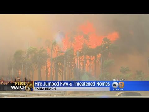 Thomas Fire Jumps 101 Freeway In Faria Beach, Homes Threatened